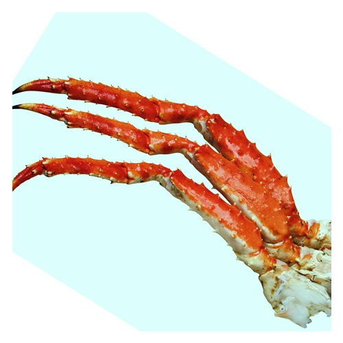 Cooked King Crab single legs 300+